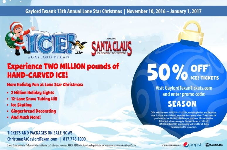 Ice exhibit at gaylord texan coupons